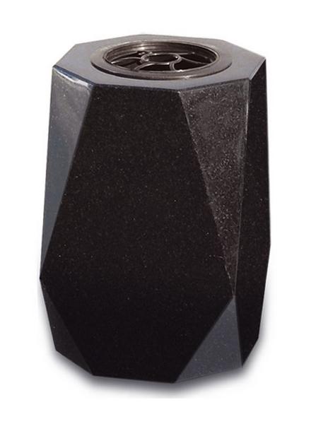 articles fun raires vases vase carr noir e. Black Bedroom Furniture Sets. Home Design Ideas